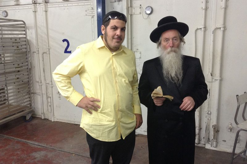 Rabbi Grossman of Migdal Haemek checking out the fields with the founder of the Lulav Connection
